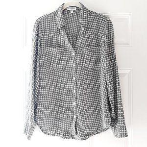 Express portofino printed button down shirt Sz S